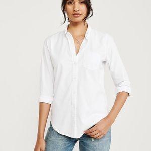 Abercrombie & Fitch White Oxford Shirt 100% Cotton